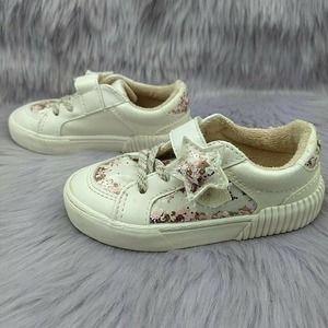 Zara Baby Glitter Star Sparkle Sneakers Sz 22/6.5